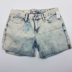 GAP Sexy Boyfriend Acid Wash Denim Shorts